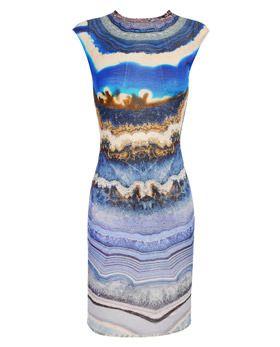Alexander McQueen Agate vestido de la impresión