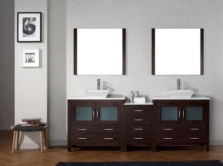 Kd 70090 S Es 001 Modern 90 Double Sink Bathroom Vanity Set