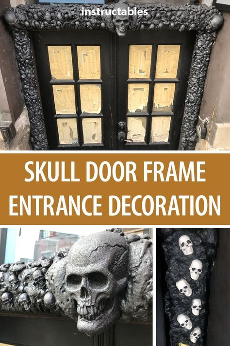 Skull Door Frame Entrance Decoration Halloween Deco Unique Halloween Cute Halloween