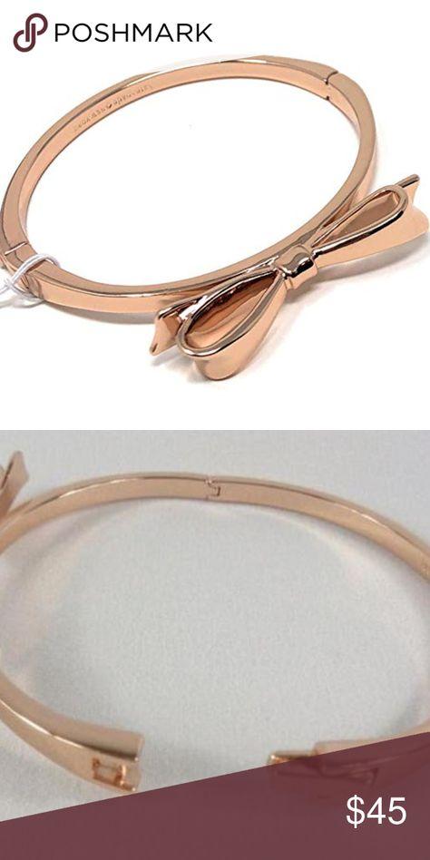 54a31cbba8f52 NWT- Kate Spade Bow Bracelet NWT- Gold tone bow bracelet w/ hinge ...