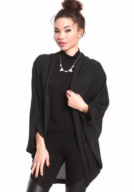 Woven Cocoon Cardigan #cardigan #cocoon #dolman #wrap #kimono ...