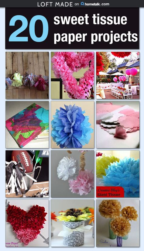 20 sweet tissue paper projects