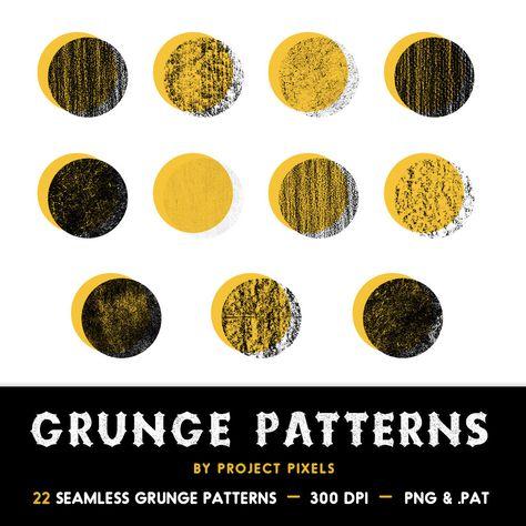 Seamless Grunge Patterns, Grunge Textures, Grunge Clip Art, Texture Overlays, Grunge Overlays, Digital Download, Photoshop, Graphic Design