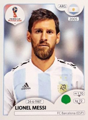 2018 Panini World Cup Stickers Checklist Set List Boxes Release Date World Cup Fifa Football Messi