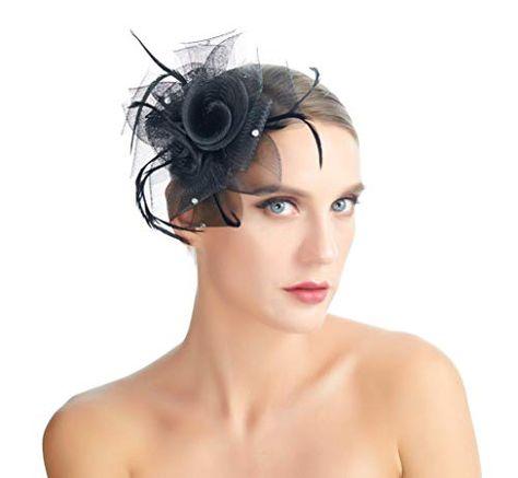 SACASUSA Flower Fascinator Crystals Mesh Gauze Cocktail Headwear Hair Clip Brooch Pin | Jodyshop