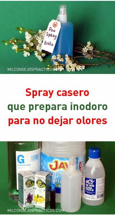 Spray Casero Que Prepara Inodoro Para No Dejar Olores Inodoro