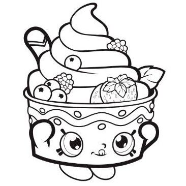 Shopkins Coloring Page Funny With Images Shopkins Colouring