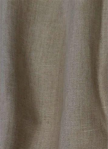 120a Wide Opaque Linen Dark Natural Natural Linen Fabric Linen Drapery Drapery Fabric