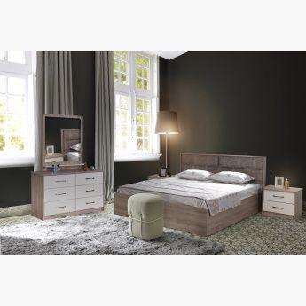 طقم غرفة نوم كينج 5 قطع من ريجا 180x200 سم بيج King Bedroom Sets King Bedroom Furniture
