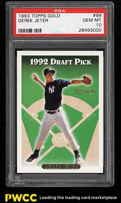 1993 Topps Gold Derek Jeter Rookie Rc 98 Psa 10 Gem Mint