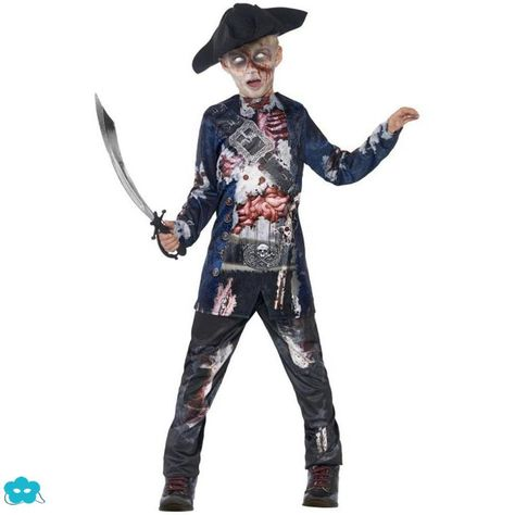 Disfraz de zombie pirata para niño