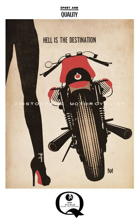 aristocratic motorcyclist picture
