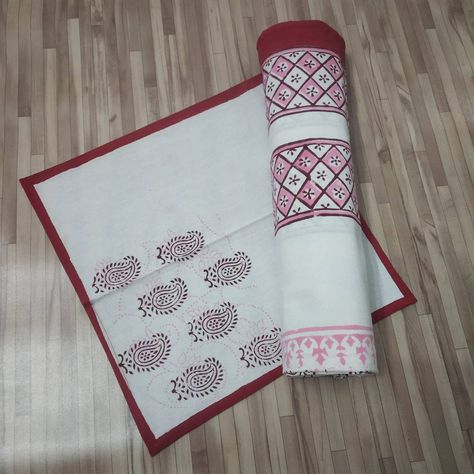 """🐣. Offer Xtras! New Hand Block Printed Beautiful Table cloths Cotton With Napkins Table Cover Set 6 Seater """"60x90""""Inches