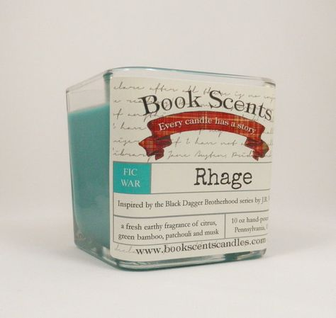 Rhage Book Inspired Candle Hand Poured 10 by BookScentsCandles