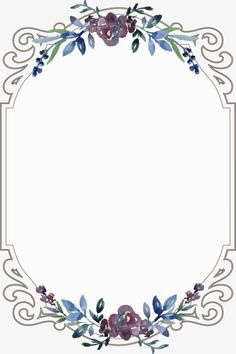 Floral Border Flowers Continental Creative Invitations Png Transparent Clipart Image And Psd File For Free Download Floral Border Vintage Borders Trendy Flowers