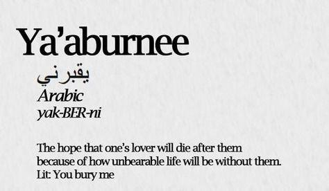 Ya áburnee /يقبرني/ Arabic