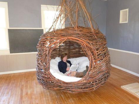diy home decor - Home Interior Design — Dreamweaver Nests Willowbee Willow Weaving, Basket Weaving, Funky Furniture, Furniture Design, Rustic Log Furniture, Dream Rooms, Inspired Homes, Home Interior Design, Diy Interior