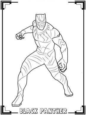 Black Panther Coloring Pages Kids In 2019 Avengers