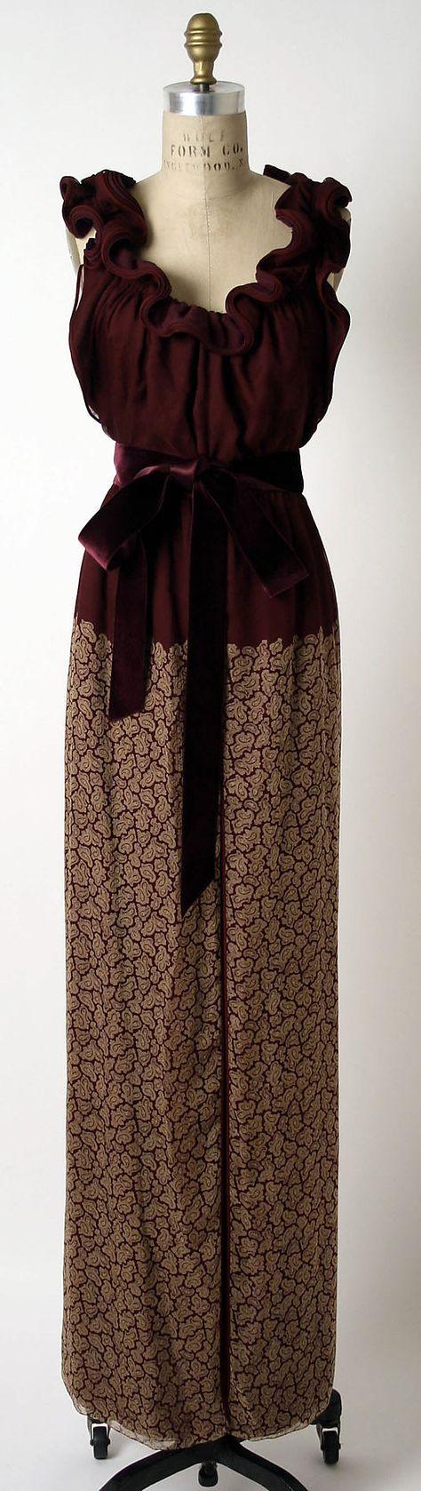 Galanos Dress - FW 1977-78 - by James Galanos (American, born 1924) - Silk