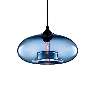 Newrays Loft Vintage Antique Industrial Hand Crafted Blown 6 Colors Glass Ball Pendant Lights For Hangi Glass Pendant Light Hanging Pendant Lights Pendant Lamp