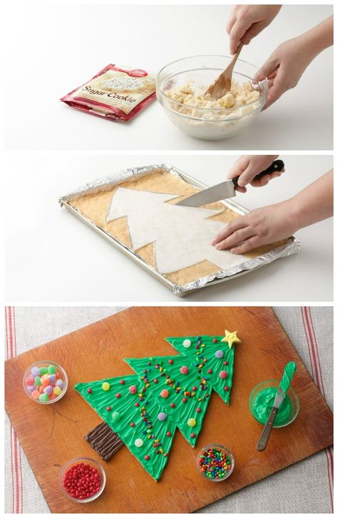 Giant Christmas Tree Cookie Recipe from our friends at Betty Crocker