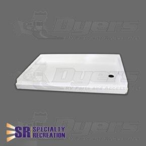 Specialty Recreation 24 X 36 White Right Hand Center Drain