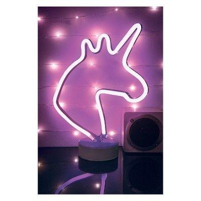 Unicorn 12 Led Novelty Table Lamp Purple West Arrow Unicorn Room Decor Neon Room Lamp