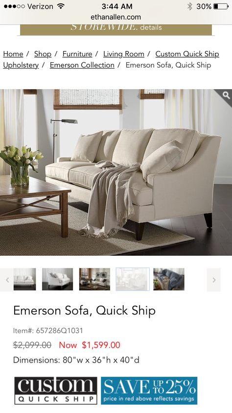 Emerson Sofa  Ethan Allen