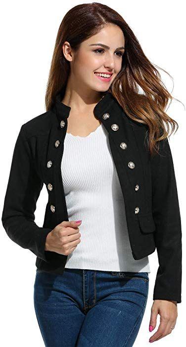 Zeagoo Womens Lightweight Open Front Asymmetrical Hem Casual Blazer Jacket