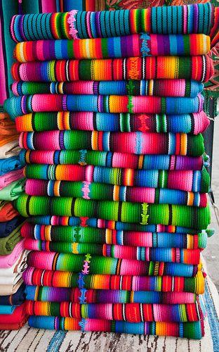 next to Panama their neighbors Guatemala - Fabrics, Panajachel, Solola, Guatemala <-- such wonderful vibrant colours