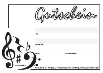 Zum Geburtstag Vorlagen Hier Herunterladen Formularbox De Gutschein Vorlage Noten Gutscheine
