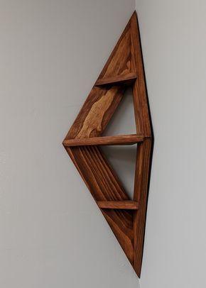 Corner Shelf Cognac Etsy Holzbearbeitungs Projekte Diy Holz Holzprojekte