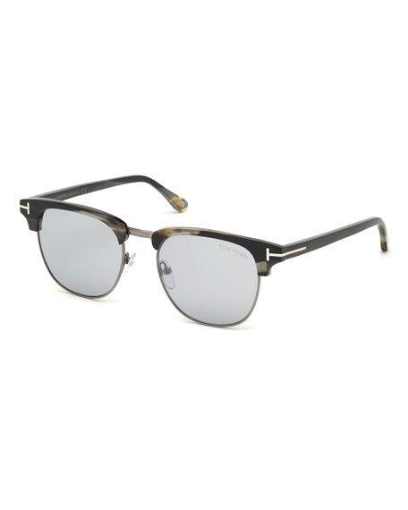 LE Men Polarized Folding Sunglasses Aviator Green Lens Alloy  Driving Goggles