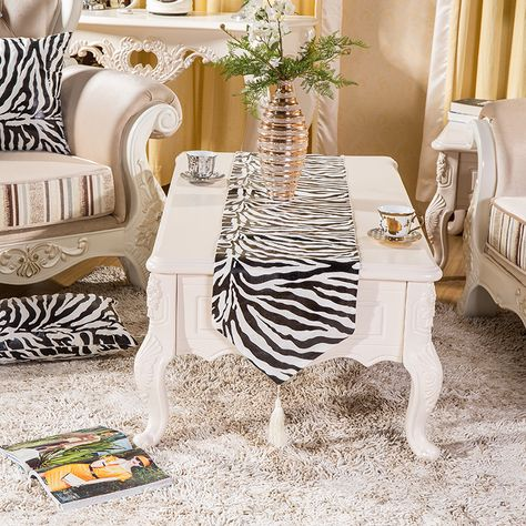 Fashion Luxury Soft Short Plush Zebra Pattern Dining