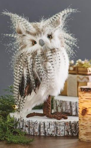 Long Eared Owl Home Decor Idea Affiliate Owls Decoration Living Room Ideas Owl Interior Room Decoration White Shabby Chic