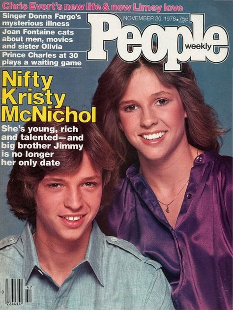Kristy and Jimmy McNichol on the cover of People magazine, Nov. 20, 1978