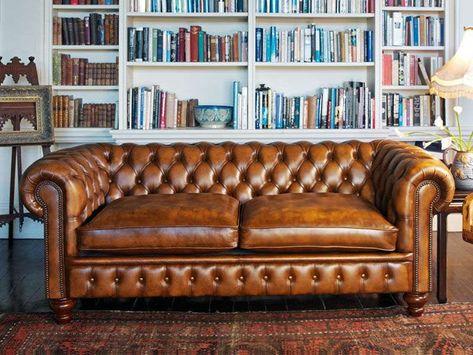 Divani Pelle Marrone Vintage : Chesterfield divani 2016 nel 2019 casetta divano arredamento e