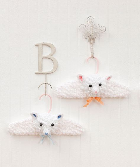 """pattern for """"Little Lamb Hangers""""...what a darling gift idea!"""
