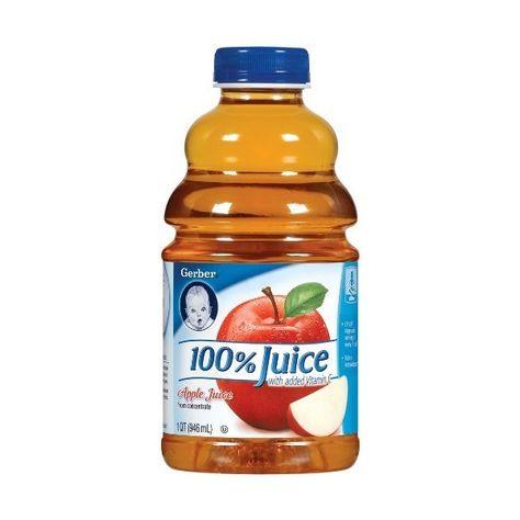 Gerber Apple Juice, 32Ounce Bottles (Pack of 6) Amazon