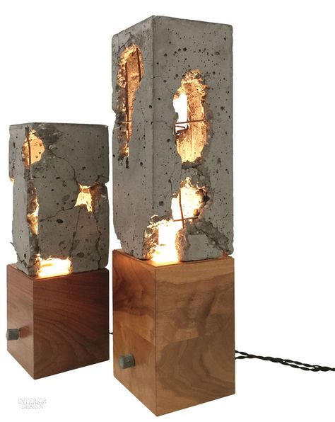 8 Lighting Fixtures to See at ICFF 2017 - All About Decoration Diy Luminaire, Luminaire Design, Concrete Light, Concrete Lamp, Home Bar Furniture, Concrete Furniture, Plywood Furniture, Furniture Design, Beton Design