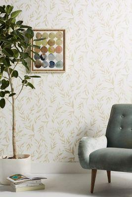 Olive Branch Wallpaper Anthropologie Magnolia Homes Home Wallpaper Decor