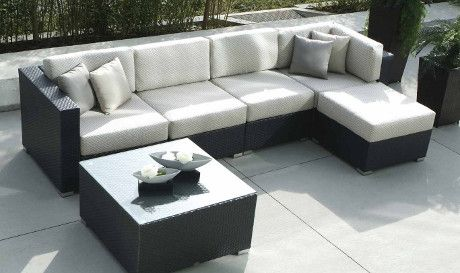 Casa Madrid Sectional Classic Black And White Never Goes Out Of Style With Images Outdoor Wicker Furniture Outdoor Furniture Sofa Clearance Patio Furniture