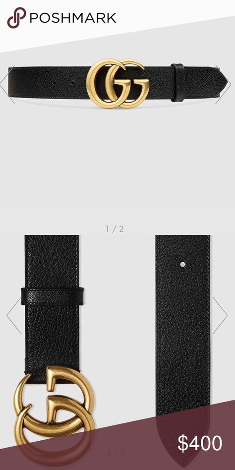 65f98c92a Authentic Gucci Belt Size 36 Black Leather Belt Gucci Accessories Belts