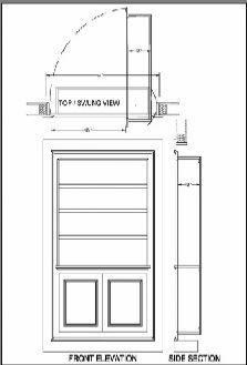 Hidden Door Function Description And Drawings.