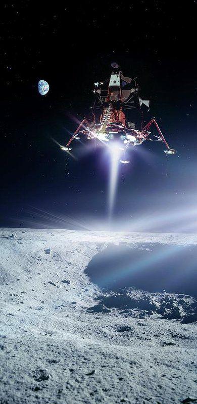 NASA Moon Landing Poster