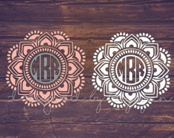 Mandala Decal Yeti Decal Mandala Monogram by DesignedByTaylynn