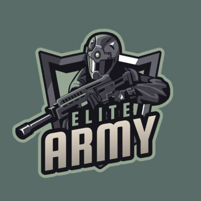 Placeit Gaming Logo Generator Featuring An Elite Force Soldier Illustration Soldier Graphic Game Logo Logo Maker
