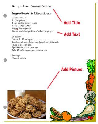 Blank notebook recipe card templates | recipe templates | Pinterest ...