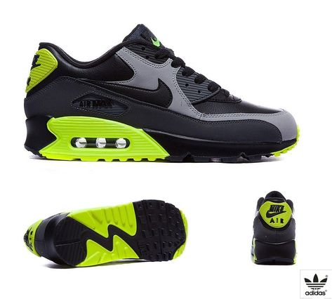 new products 9d4f5 7d24e Nike Air Max 90 Leather Trainer   Black   Wolf Grey   Dark Grey   Footasylum
