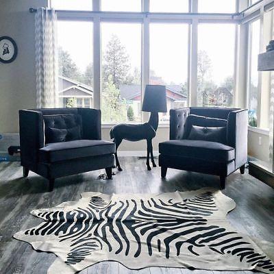 Zebra Cowhide Rug Size 7 039 X 6 5